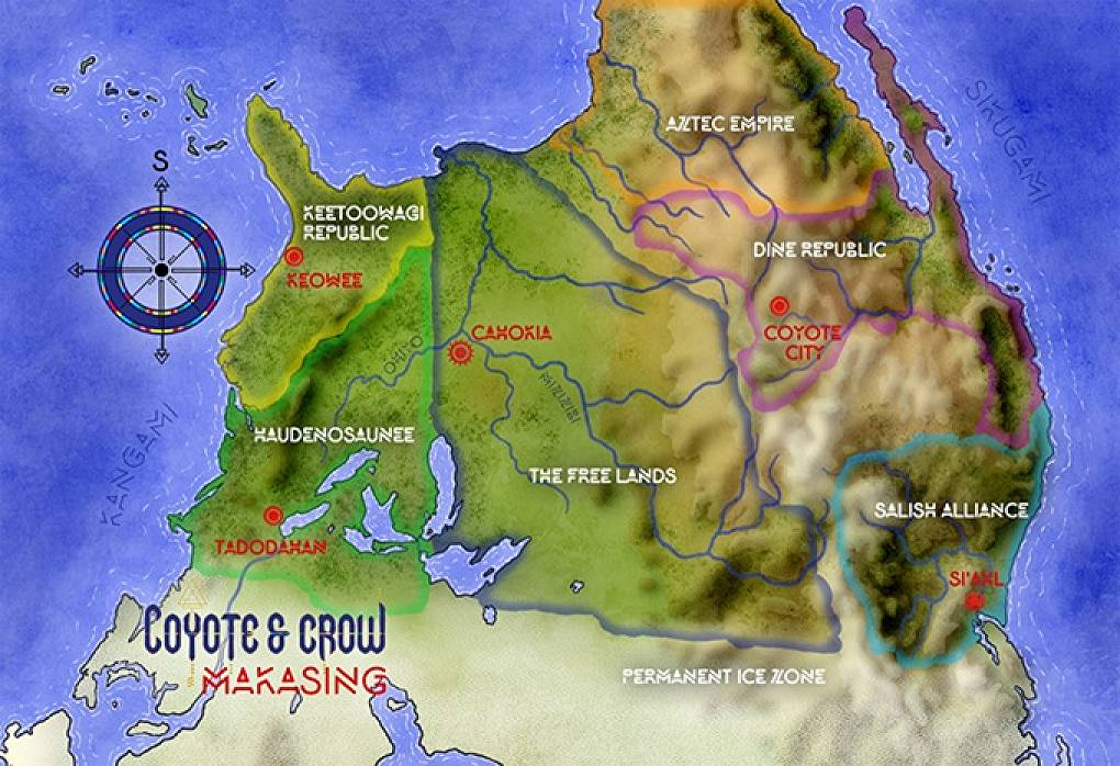 coyote and crow world map